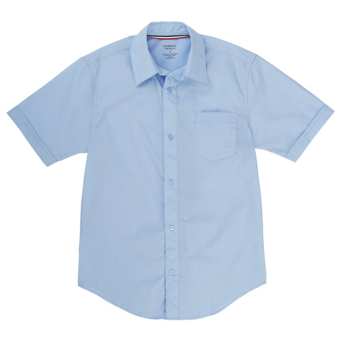Short Sleeve Dress Shirt with Expandable Collar Husky Sizes (2 Colors)