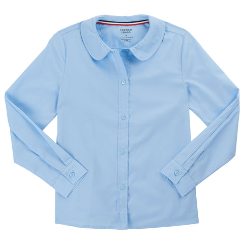 Long Sleeve Modern Peter Pan Blouse Sz 4-20 (2 Colors)