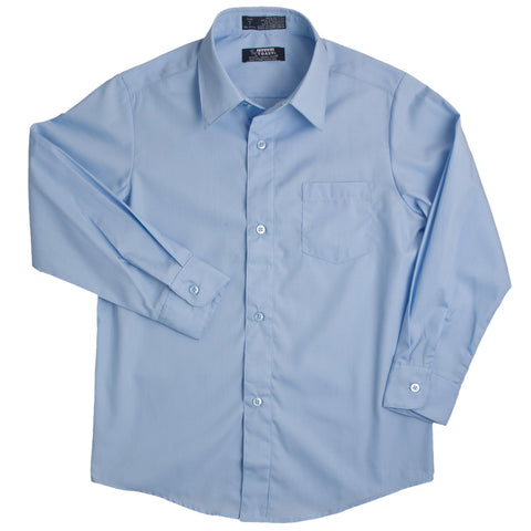 Long Sleeve Dress Shirt with Expandable Collar Sz 4-20 (2 Colors)