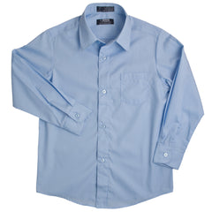 Long Sleeve Dress Shirt with Expandable Collar Husky Sizes (2 Colors)