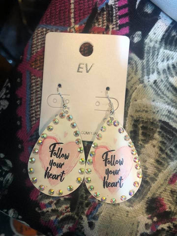 Follow Your Heart earrings