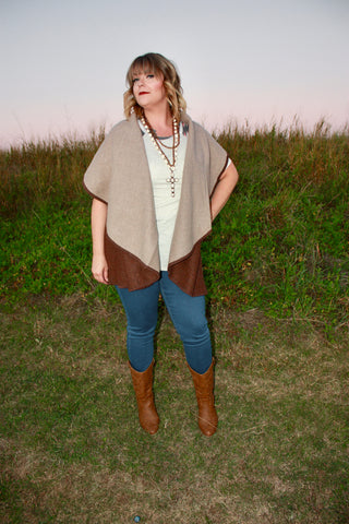 Reversible Shawl Vest