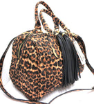 Quilted Leopard Purse