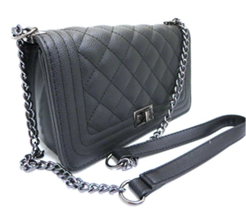 Quilted Chain Crossbody Purse