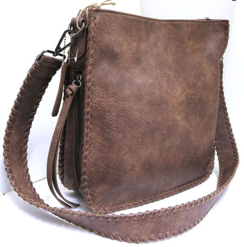 Leather Satchel Crossbody Purse