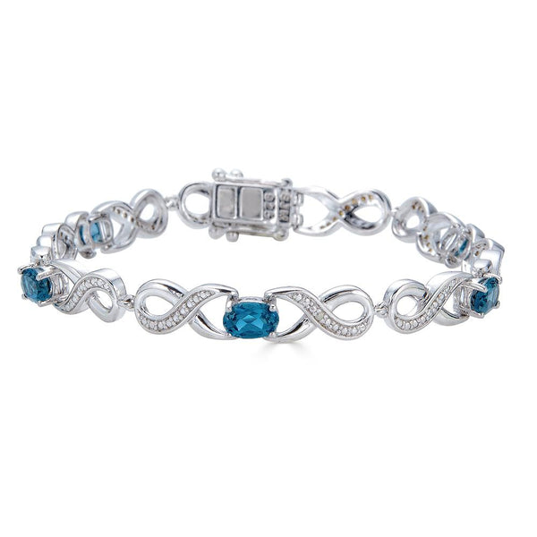 London Blue Topaz Infinity Bracelet