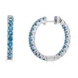 London Blue Topaz Hoop Earrings