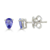 Tanzanite Pear Stud Earrings