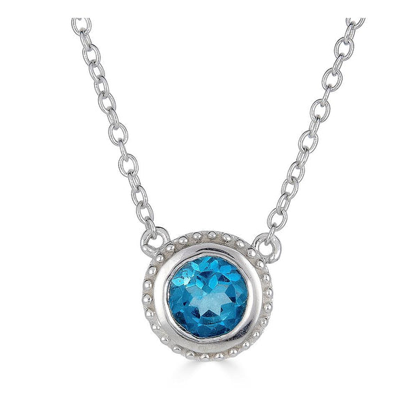 London Blue Topaz Solitaire Pendant