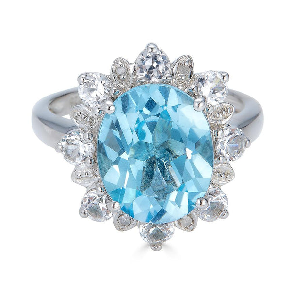 Lady Diana Sky Blue Topaz Ring