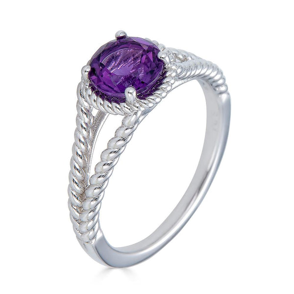 Amethyst Rope Ring