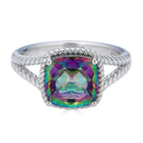 Mystic Topaz Cushion Cut Ring