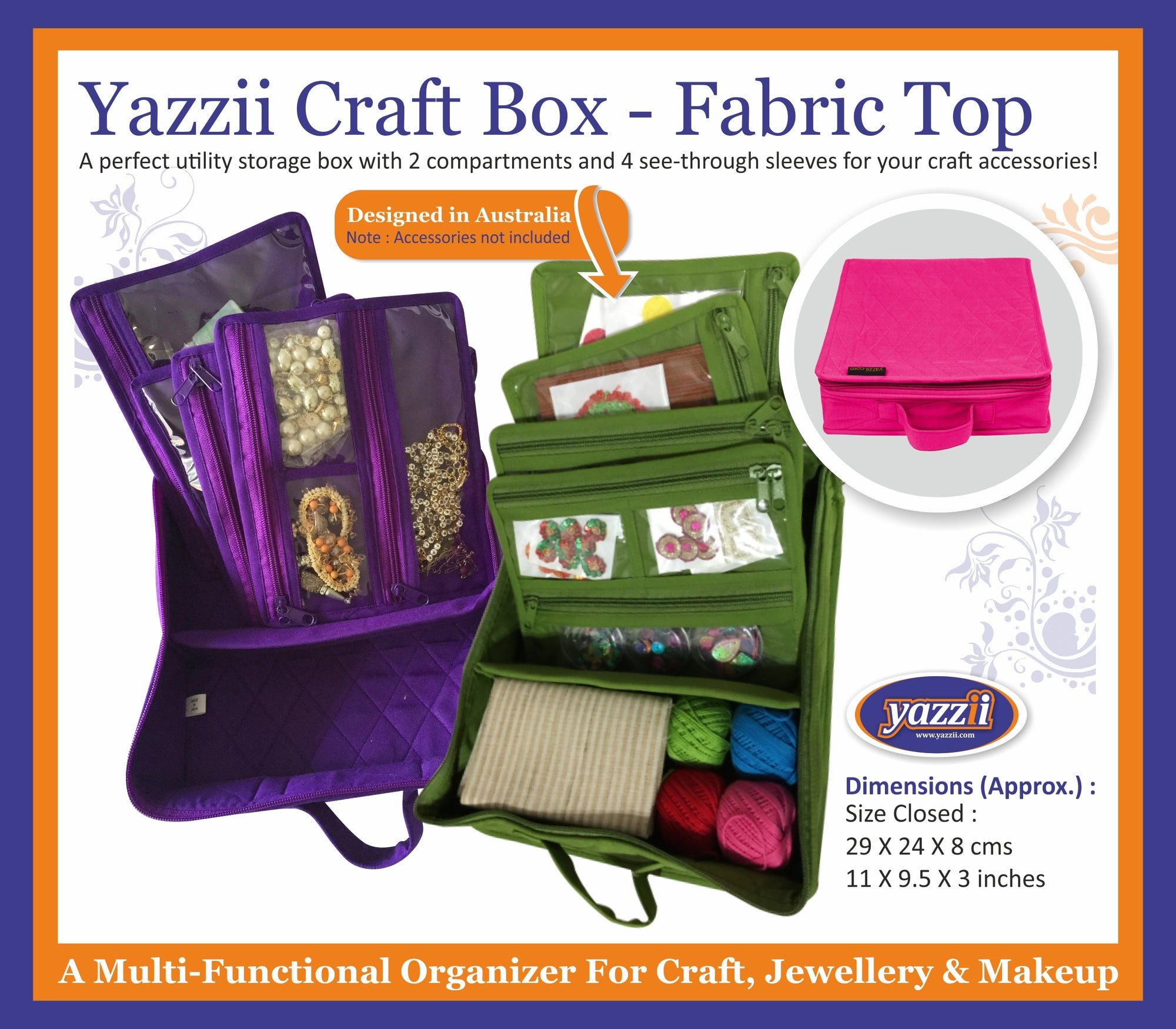 Yazzi Craft Box - Fabric Top