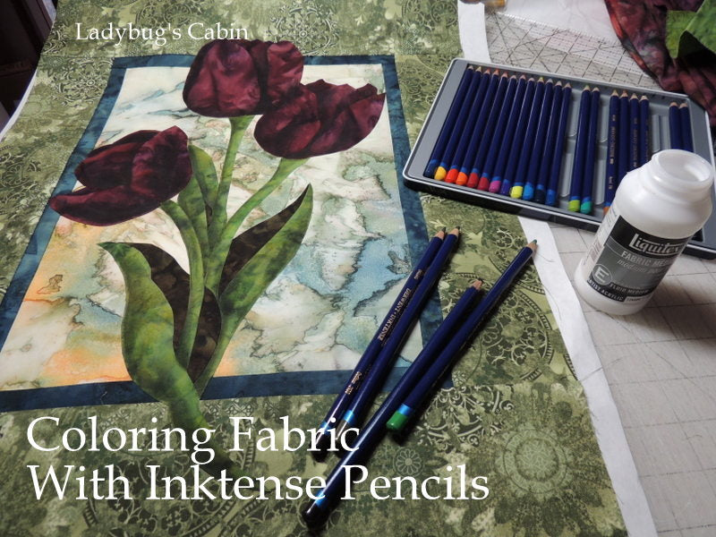 Video - Coloring Fabric with Inktense Pencils