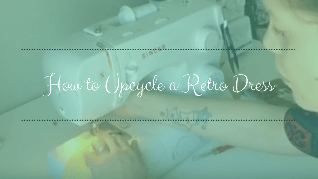 How to up-cycle a retro dress