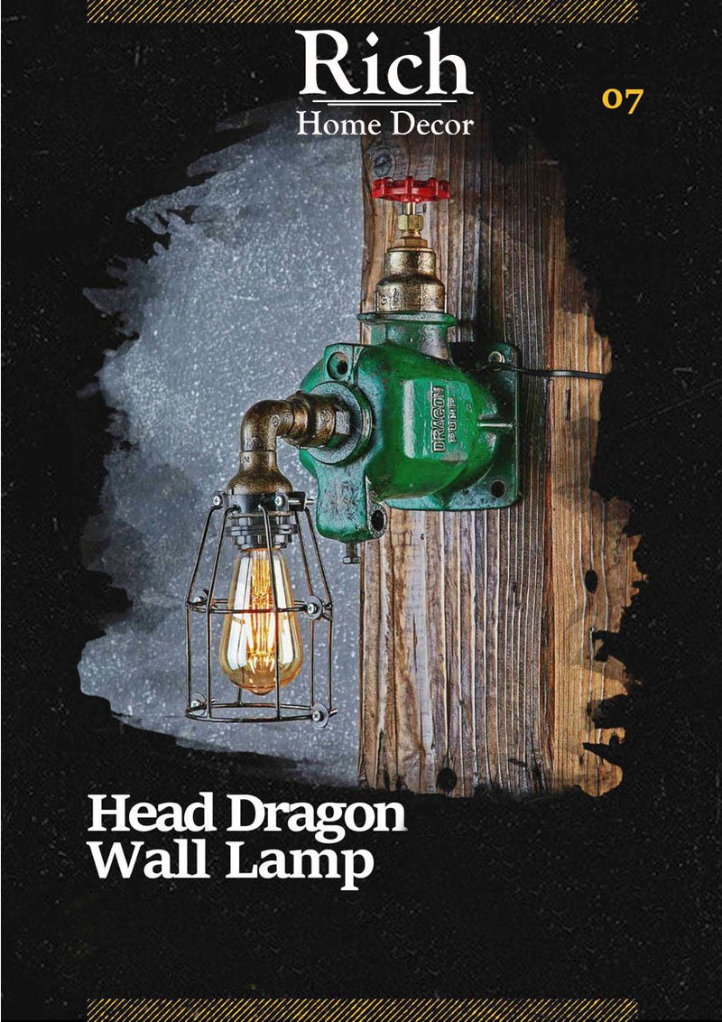 Head Dragon Wall Lamp