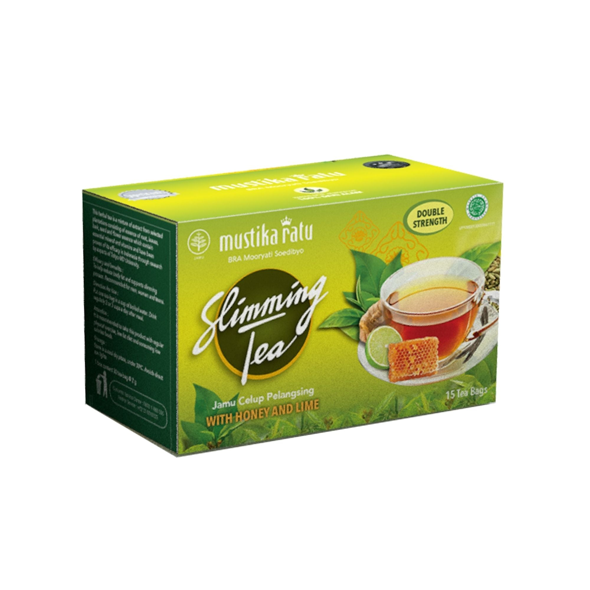 Slimming Tea with Honey & Lime ( 15 tea bags - Mustika Ratu )