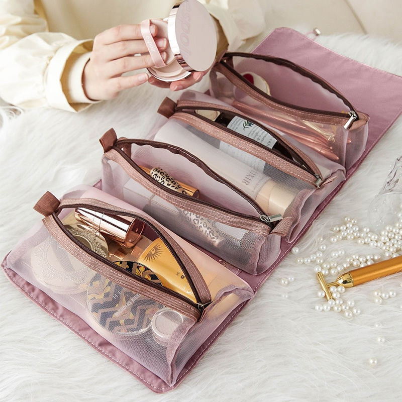 4 in 1 Mesh separatable Cosmetic Bag