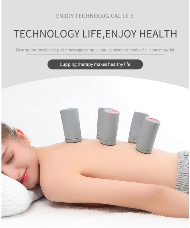 Portable Smart Electric Cupping and Pulse Massager