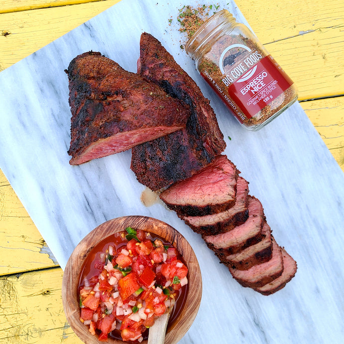 Reverse Sear Smoked Tri-Tip with Fresh Salsa