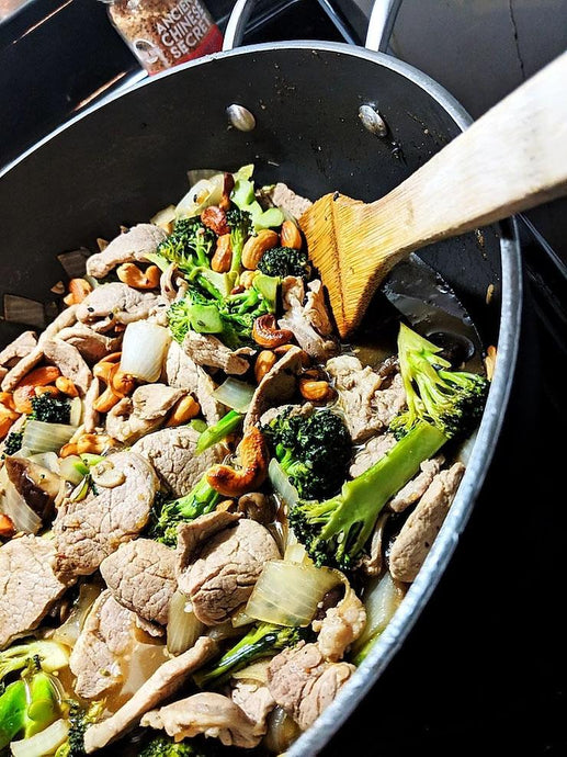 Ancient Cashew Pork Broccoli