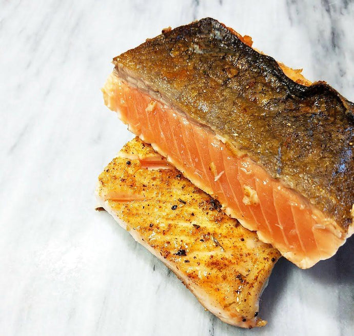 Crispy Salmon with Maple Mustard