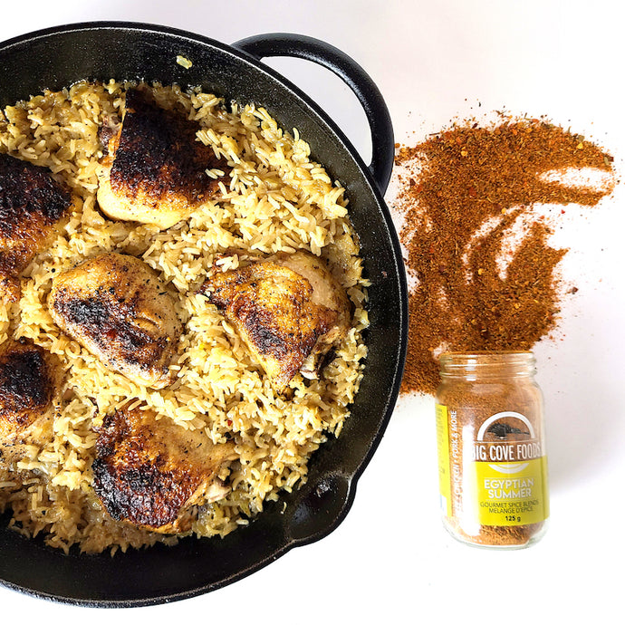 Cast Iron Chicken + Rice with Egyptian Summer