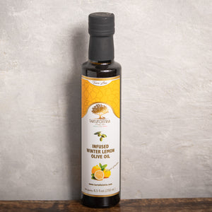 Infused Winter Lemon Olive Oil by Fishfinery  Edit alt text
