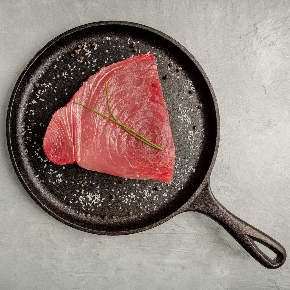 Load image into Gallery viewer, Ahi Tuna Steak in Cast Iron by FishFinery