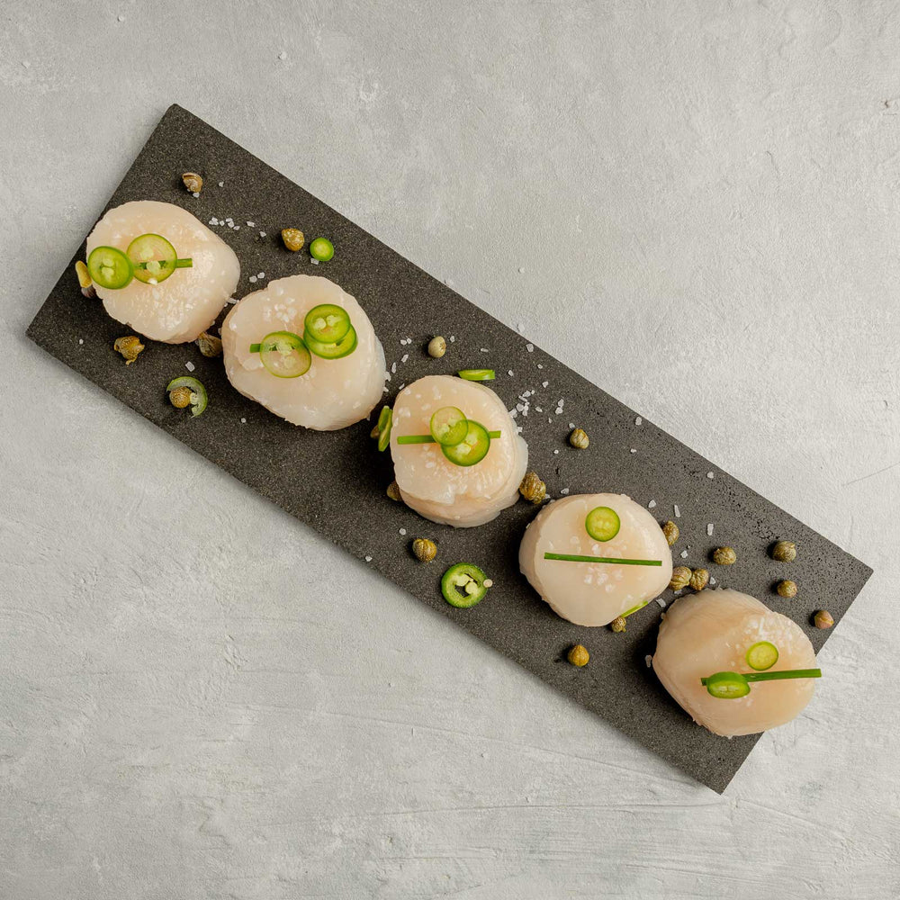 Diver Sea Scallops garnished on plate by FishFinery
