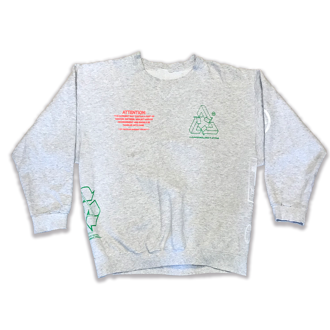 Plain Crewneck Sweatshirt- Heather Grey (XL)