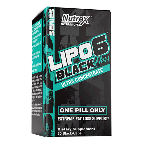 NUTREX- LIPO 6 BLACK HERS UC - 60SV - JNK Supplements