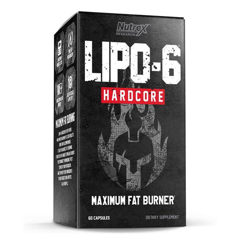 NUTREX- LIPO 6 HARDCORE MAXIMUM FAT BURNER - JNK Supplements