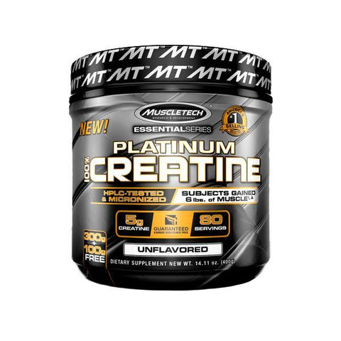 MUSCLE TECH 100% PLATINUM CREATINE 400G - JNK Supplements