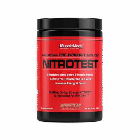 MUSCLE MEDS NITROTEST Androgenic Pre-workout Amplifier