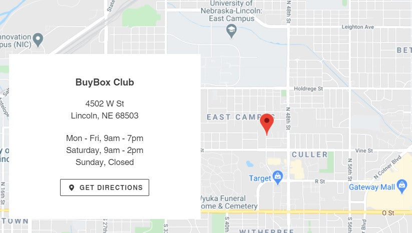 BuyBox Club Location Lincoln Nebraska
