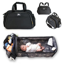 Load image into Gallery viewer, Travel Bassinet for Babies - 3 in 1 Diaper Bag Backpack Changing Station