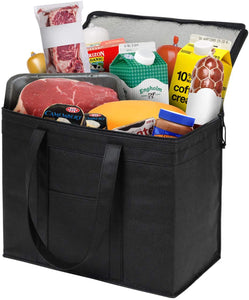 2 Pack XL Insulated Food Delivery Bags Grocery
