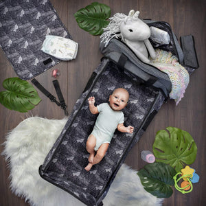 Travel Bassinet for Babies - 3 in 1 Diaper Bag Backpack Changing Station