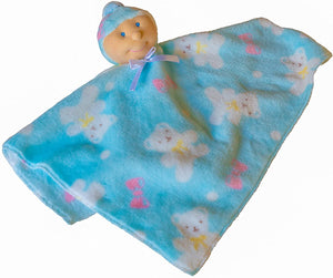 Ha-Pi Bub - Baby Security Blanket (White Baby Boy)