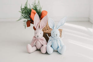 "16"" Plush Rabbit Bunny Keepsake for Kids Blue Boys"