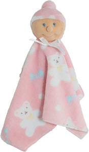 Baby Security Blanket (White Baby Girl) -Ha-Pi Bub