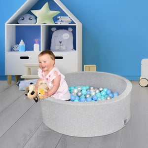 Foam Ball Pit with 200 Balls included- Gray Marble