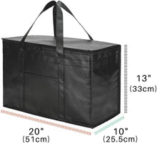 Load image into Gallery viewer, 2 Pack XXL Insulated Food Delivery Bags Grocery
