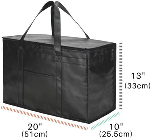 2 Pack XXL Insulated Food Delivery Bags Grocery