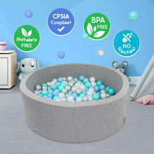 Load image into Gallery viewer, Foam Ball Pit with 200 Balls included- Gray Marble