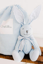 "Load image into Gallery viewer, 16"" Plush Rabbit Bunny Keepsake for Kids Blue Boys"