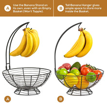 Load image into Gallery viewer, Medium Fruit Basket With Banana Hanger