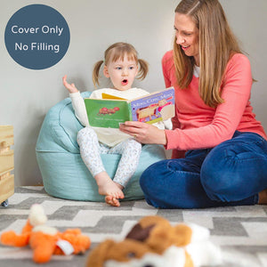 Premium Soft Canvas Kids Bean Bag Chair (Cover Only No Filling)