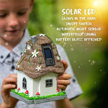 Load image into Gallery viewer, WILD PIXY Garden Miniature House - Outdoor Fairy Cottage Statue with Solar LED Light and Opening Door
